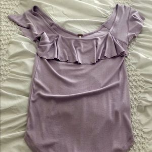 Lilac Free People top. Size medium. NWT.